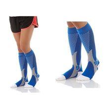 Компрессионные носки для женщин и мужчин, подходят для занятий спортом, черные Компрессионные носки для защиты от усталости и боли, гольфы, европейские размеры 39-47