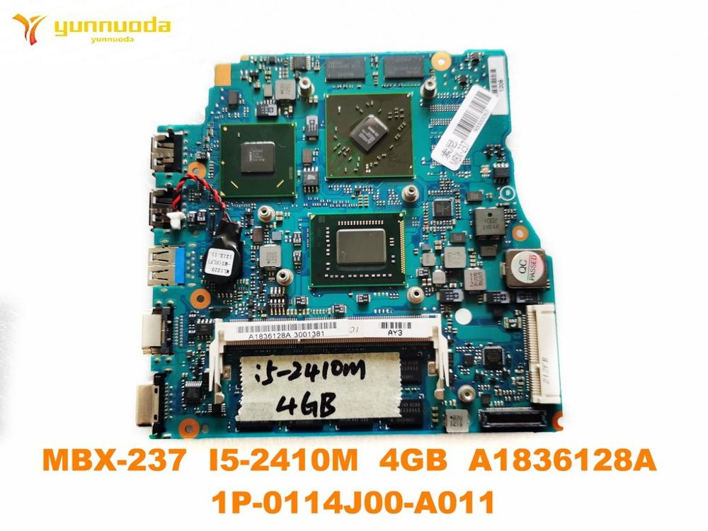 Original for SONY MBX-237 laptop motherboard MBX-237 <font><b>I5</b></font>-<font><b>2410M</b></font> 4GB A1836128A 1P-0114J00-A011 tested good free shipping image