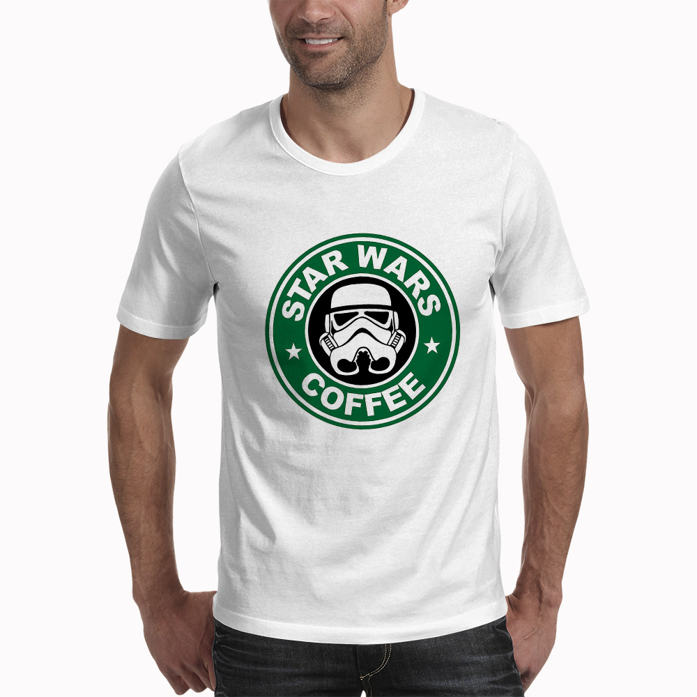 New Arrival Coffe T Shirt Funny Star Wars COFFEE Printed T-shirt Men's Short Sleeve O-Neck Streetwear HipHop Summer Tops Tee