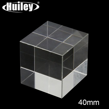 Cube Prism K9 Optical Glass 4x4x4cm Hexahedron Prism for Photography High Quality Decorations Scientific Experimental Instrument 1 inch corner cube prism no coating height 19mm high precision bk7 optical glass trihedral retroreflector