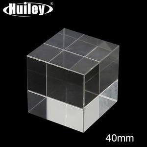 Cube Prism K9 Optical Glass 4x