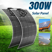 18V Solar Panel 300W 600W Flexible Efficient Monocrystalline Power Bank Solar Panel for Outdoors Car Boat Smartphone Battery
