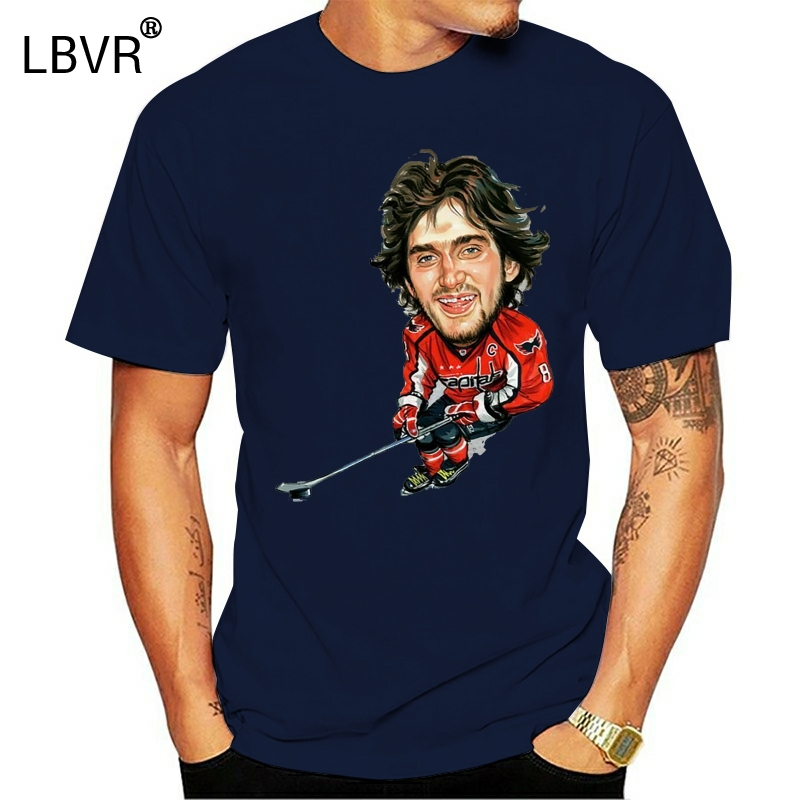 Alexander Ovechkin T-Shirt Alexander Ovechkin Mvp Tee Shirt Short Sleeve S-3Xl New Unisex Funny Tops Tee Shirt(China)