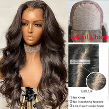 Wigs Human-Hair-Wigs Silk-Base Scalp-Top Transparent Lace Lace-Front Body-Wave Hesperis
