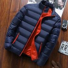 Chaqueta de hombre, impermeable, color sólido, talla grande, otoño e invierno, chaqueta exterior 2021 nueva