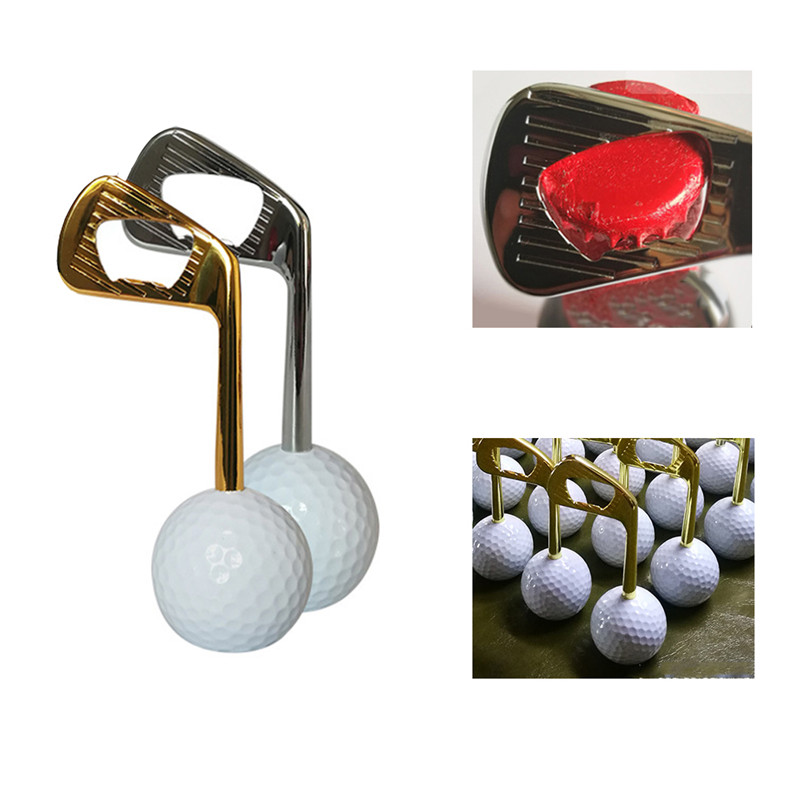 Golf Ball Bottle Opener Creative Zinc Alloy Beer Cap Puller Openers Golf Training Aids