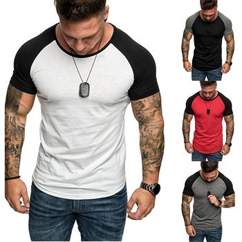 2020 New Fashion Men Short Sleeve Cotton t-shirt Summer Casual Gyms Fitness Bodybuilding T shirt Male Slim Tees Tops Clothing tanie i dobre opinie UABRAV Pasuje prawda na wymiar weź swój normalny rozmiar Oddychające