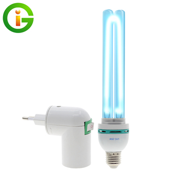 E27 UVC Germicidal Ultraviolet UV Light Tube Bulb Disinfection Lamp Ozone Sterilization Mites Lights Germicidal Lamp Bulb AC220V