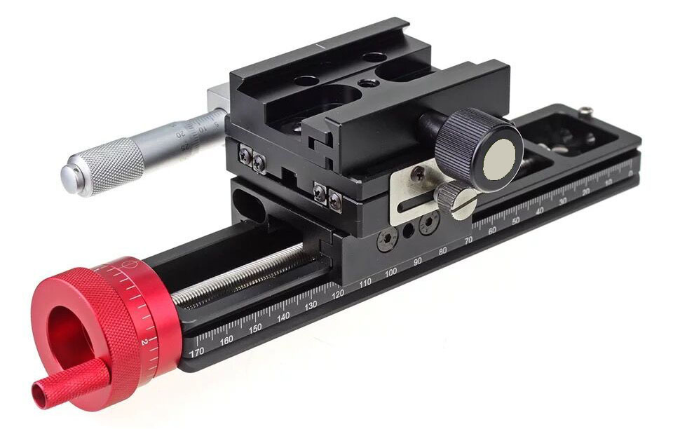 180mm Double Precision Stacked Photography Slide Macro Trimming Guide For Precision Focus
