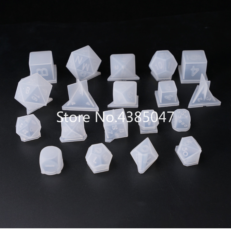 DIY 3D Dice Series Of Jewelry Making Tools Number Gamer Tools Silicone UV Resin Jewelry Molds