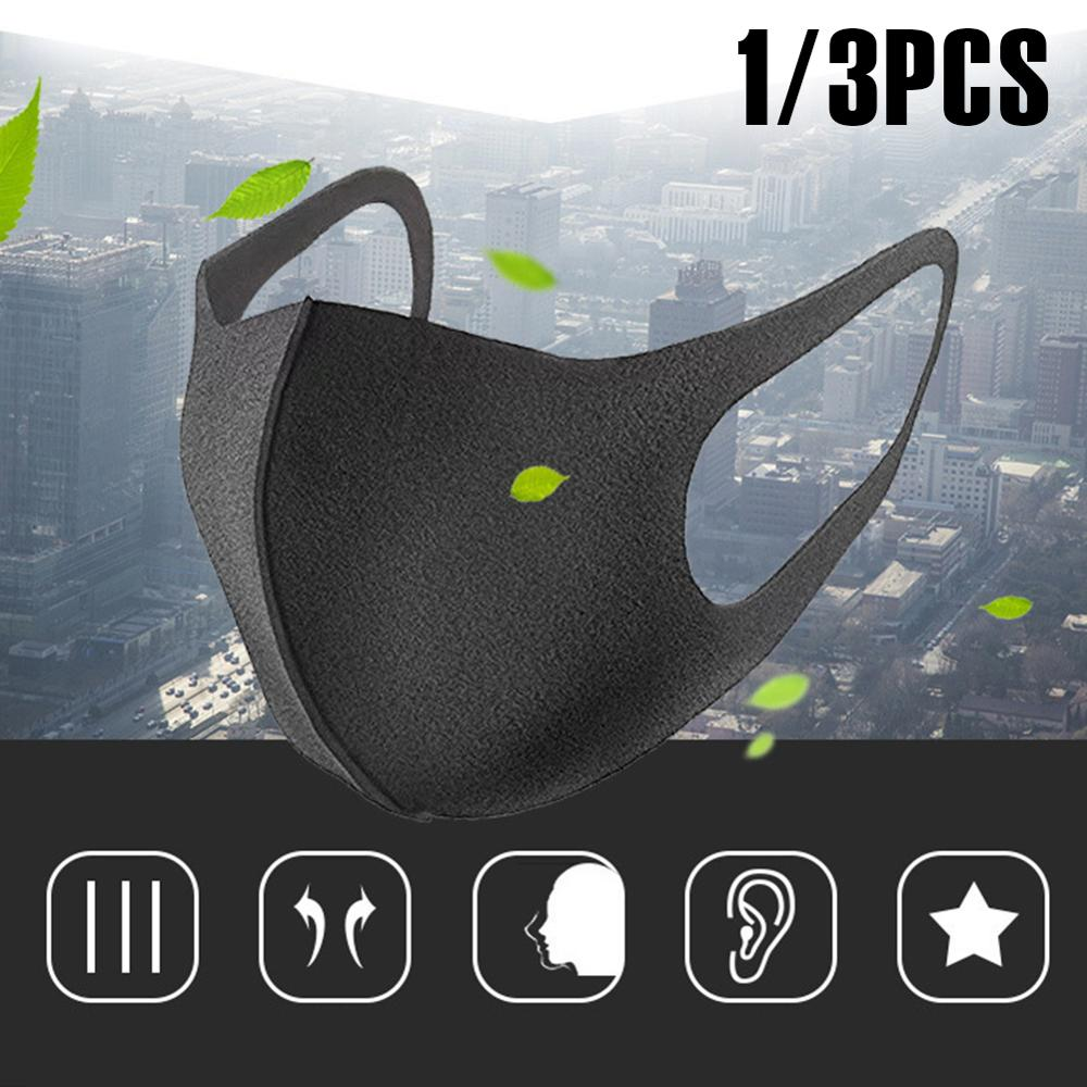 Mask Cotton Mouth Anti Dust 3D Daily Washable Reusable Black Activated Carbon Filter Windproof Proof Face Care 3/1PCS Fashion