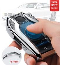 גובה איכות מחשב + TPU מקרה מפתח כיסוי מפתח מקרה מגן פגז מחזיק עבור BMW 7 סדרת 740 6 סדרה GT 5 סדרת 530i X3 תצוגה