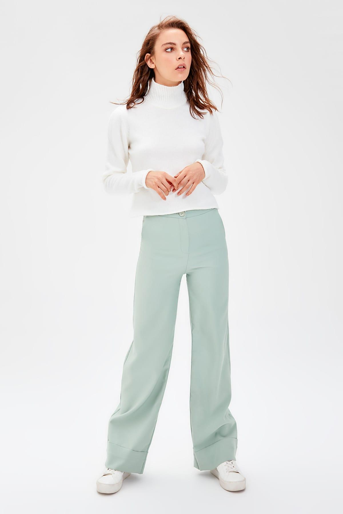 Trendyol Mint Spanish Bell-Bottomed Pants TWOSS19ST0179