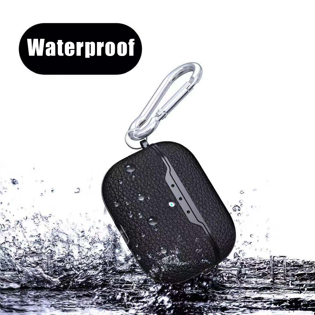 Litchi Leather Waterproof and Shockproof Case for Airpods pro 21