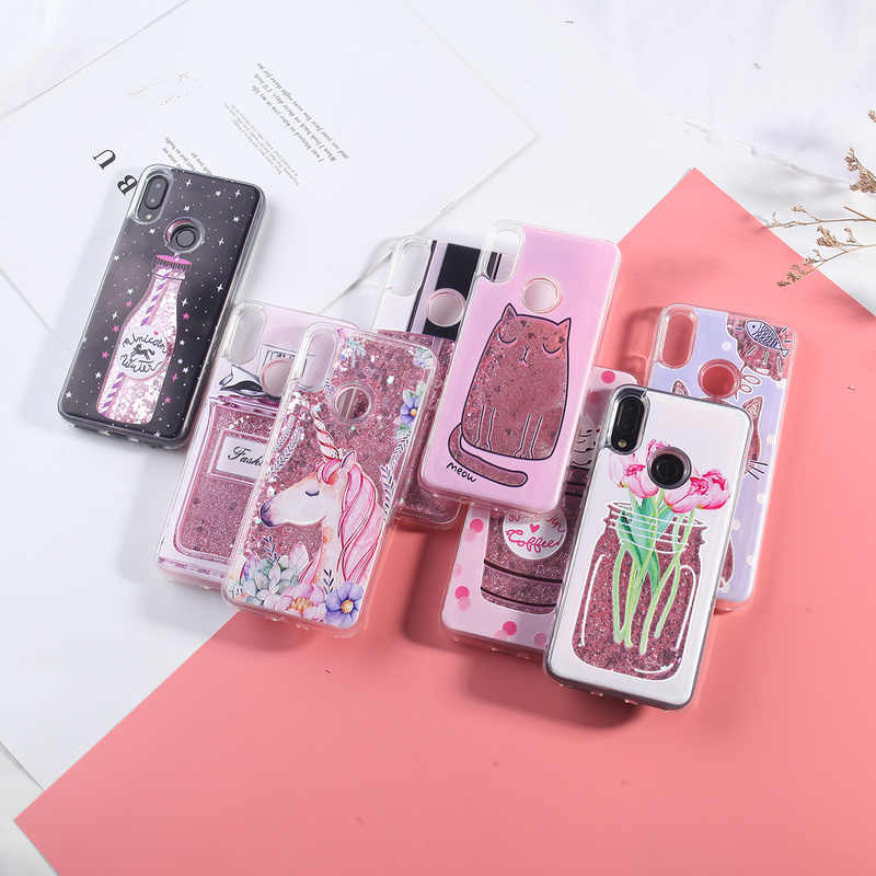 For Xiaomi Redmi Note 7 Case Liquid Glitter Case For Xiaomi Redmi Note 5 Pro 4 4X Mi 8 5 4A 5A S2 Plus Dynamic Quicksand Cover