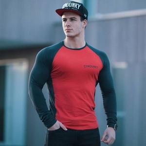 Image 3 - Uzun kollu T gömlek erkekler ilkbahar ve sonbahar festivali Moda Masculina pamuk yuvarlak boyun ince spor spor koşu Supernatural Tshirt