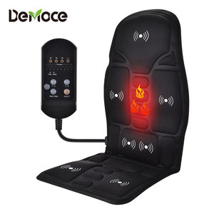 Electric Massage Chair Pad Heating Vibrating Back Massager Chair Cushion Car Home Office Lumbar Pain Relief With Remote Controls