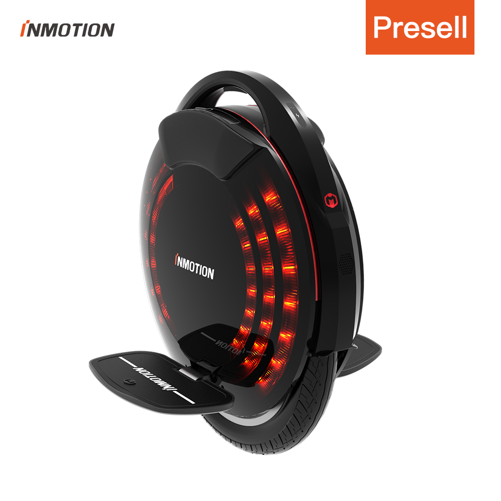 INMOTION V8F Electric Unicycle Monowheel Onewheel Selfbalancing Scooter EUC Off-road APP With Decorative Lamps Electric Scooter