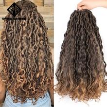 Ombre Goddess Mermaid Faux Locs 20inch 18Root Bohemin Croche