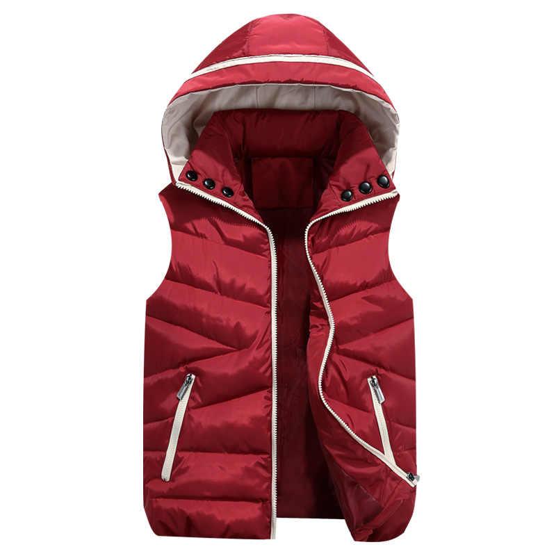 سترة الرجال جديد أنيق 2019 الخريف الدافئة جاكيت بلا إكمام الرجال الشتاء صدرية الرجال سترة أزياء عارضة معاطف رجل زائد حجم