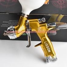 цена на high quality professional GTI pro lite golden painting gun TE20/T110 1.3mm nozzle spray gun paint gun water based air spray gun