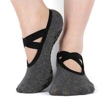 Женские нескользящие носки для йоги, с открытой спиной, для фитнеса, пилатеса, дышащие, для балета, для ног, для женщин, спортивный носок, тапочки для танцев