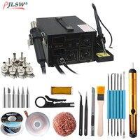 852D+ 220V Standard Rework Station Soldering iron 2 in 1 iron Hot Air Rework soldering Soldering Heat Gun BGA