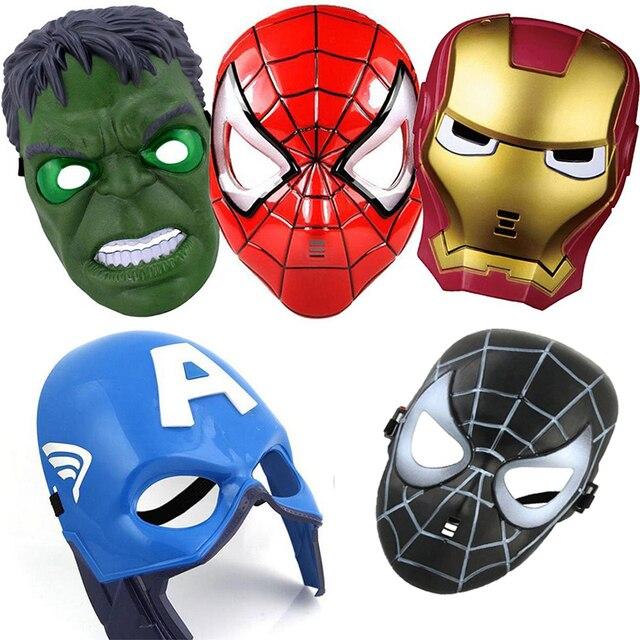 Cosplay Superhero Halloween Mask for Kid & Adult Avengers Marvel Captain America Spiderman Hulk Iron Man Star Wars Mask