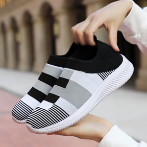 Casual Shoes Women Sneakers Mesh Outdoor Sock Shoes 2020 New Women's Trend Fashion Shoes Breath Light Female Shoes Big Size 4142