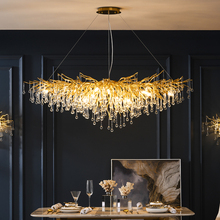 Modern Luxury Crystal LED Chandelier Lighting Decoration LOFT Villa Kitchen Lamp Dining Living Room Hotel Hall Art Indoor Lights