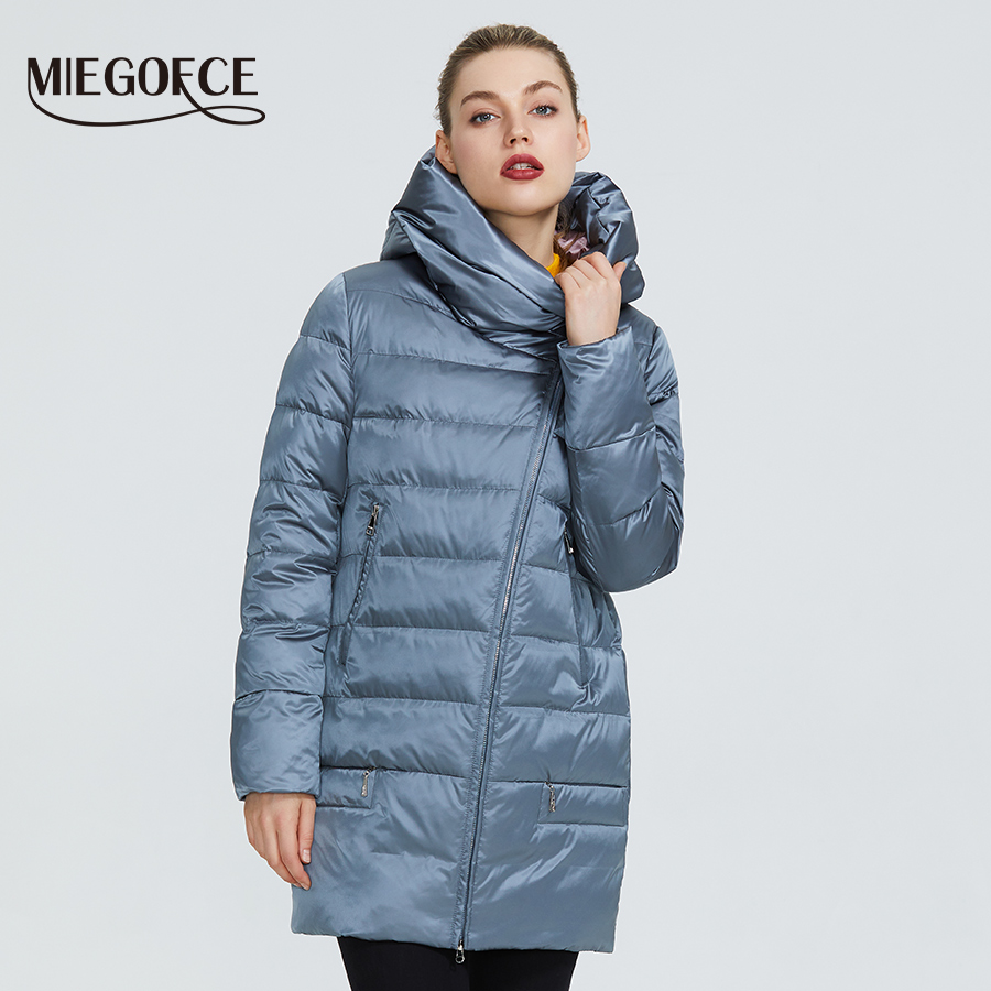 MIEGOFCE 2019 Winter Women's Collection Women's Warm Jacket Women Coats And Jackets Winter Windproof Stand-Up Collar With Hood
