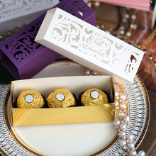 20pcs Gold Silver Eid Mubarak Candy Box Ramadan Kareem Happy Eid al Adha Party Decoration Gift Box Muslim Eid al-Fitr Party #6 25pcs laser cut hollow love heart chocolate candy box with ribbon happy eid mubarak ramadan party decoration diy