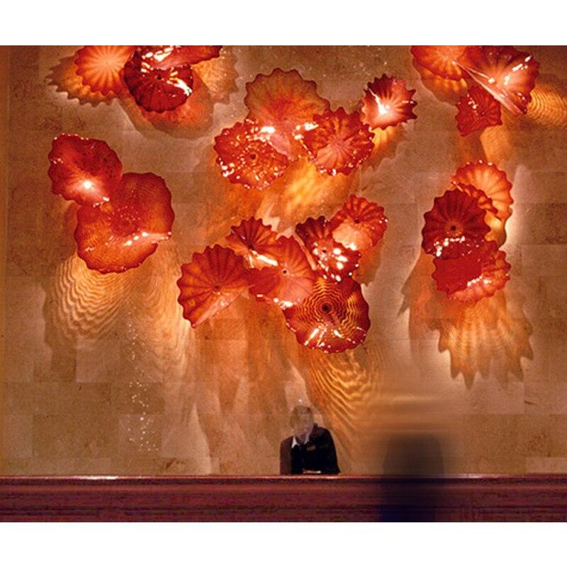 Grandes plaques de verre de Murano faites main de luxe suspendus applique murale