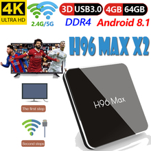 tv boxing set-top box H96 MAX X2 Amlogic S905X2 youtube 4K Support 2.4/5G Bluetooth android 8 Smart Internet Media Player