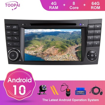 TOOPAI Android 10 For Mercedes Benz E-Class W211 E300 CLK W209 CLS W219 Navigation GPS Multimedia Player Auto Radio DVD CD SWC image