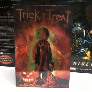 Image 2 - 18cm NECA Trick R Treat Sam Clothed With Bag Lollipop Halloween 2007 Action Figure Classic Film Movie Toys Christmas Doll Gift