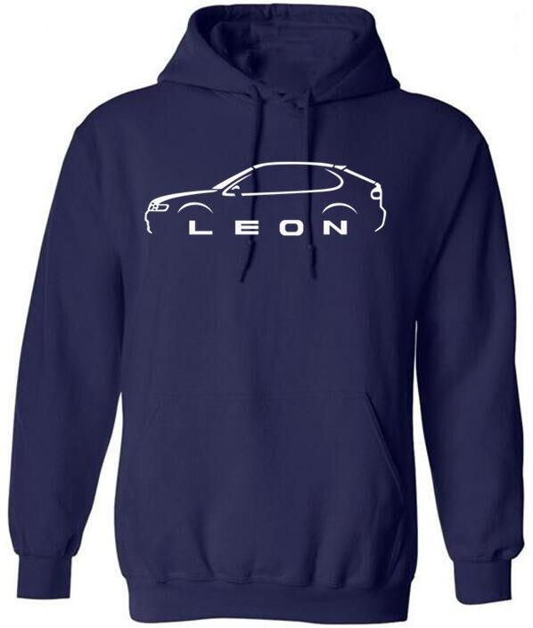 Seat Leon Mk1 Inspired Classic Car Men's Hoodies Fashion Crew Neck High Quality Long Hoodies, Sweatshirts 2020