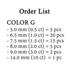 48pcs loose moissanite GH צבע תפור לפי מידה moissanite סיבוב מבריק Cut מצוין תכשיטי צמיד יהלומי טבעת חומר