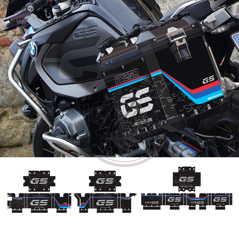 Motorcycle Reflective Decal Case for BMW Real Side Trunk R1200GS R1250GS Adventure 2004-2020