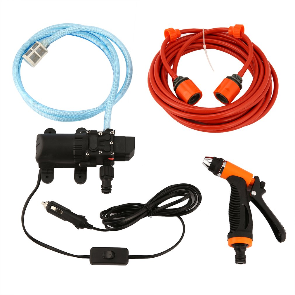 New 6L/min 130PSI High Pressure Car Water Pump Car Cleaning Kit 70W 12V DIY Auto Washing Tools Set Water Saving Car Accessaries