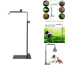 Reptile Lamp Stand Fixed Bracket Adjustable Floor Light Stand, Light Stand Heat Lamp Stand Metal Lamp Support