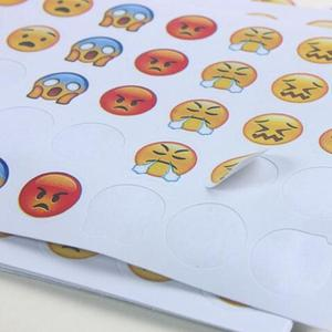 3 pieces/12 pieces Cute Stickers Diary Hand Account Smiley Stickers Surprised / funny / sad