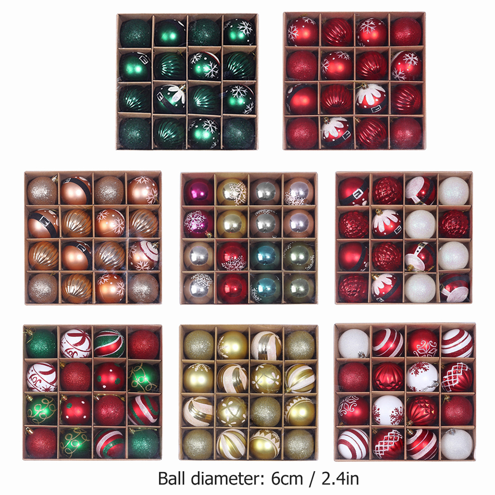 16 x Christmas Tree Baubles 7