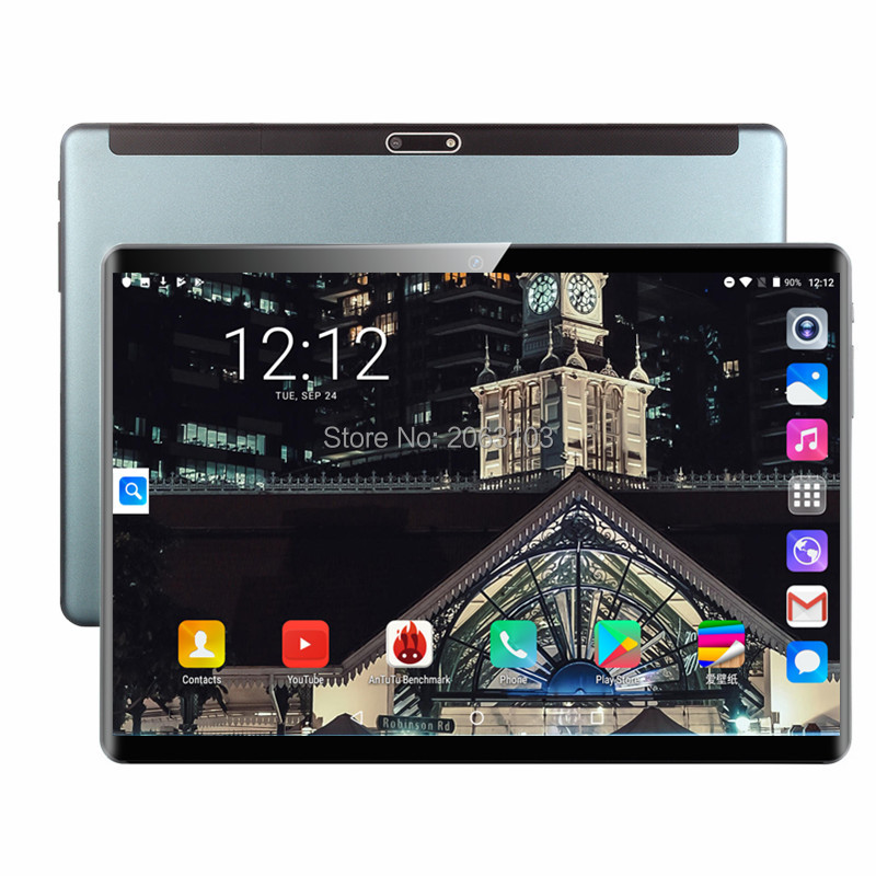 2020 Super Tablet 64G Global Bluetooth Wifi Android 9.0 10 Inch Tablet Octa Core 6GB RAM 64GB ROM 2.5D Screen Tablets Phablet