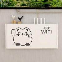 Cajas de almacenamiento de enrutador Wifi para el hogar, organizador de ahorro de espacio para regalo, decoración colgante, Cable de alimentación, montado en la pared