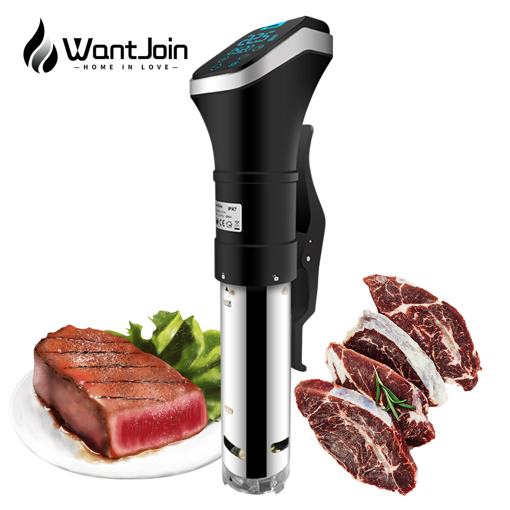 WantJoin Vacuum Slow Sous Vide Food Cooker 1600W LCD Digital Control Timer CE Immersion Circulator Vacuum Slow Cooker Sous Vide