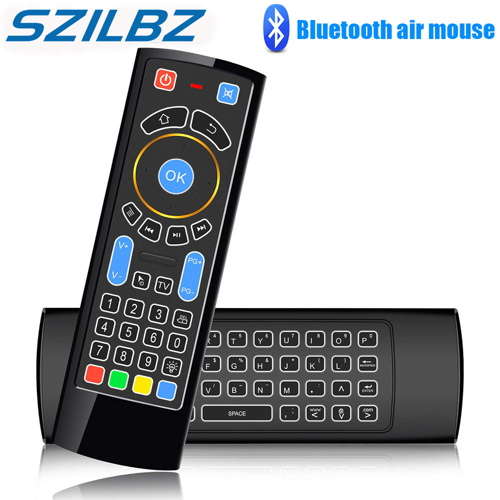 SZILBZ Bluetooth Mini Wireless keyboard Remote Control IR Air Mouse for Fire TV/Fire TV Stick/Smart TV/Android box/mini PC/HTPC