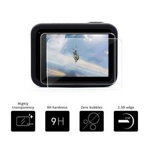 Image 2 - VSKEY cristal templado para cámara GoPro Hero 8, Protector de pantalla LCD + tapa de lente, película protectora para Hero 8, color negro, 100 Uds.