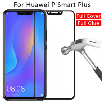 protective glass for huawei p smart plus 2018 screen protector tempered glas on psmart smar smat 6.3 film hawei huwei huawey 3d