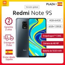 Versión Global Xiaomi Redmi Note 9S 4GB 64GB 128GB Smartphone Note 9S los teléfonos móviles Qualcomm Snapdragon 720G 6,67